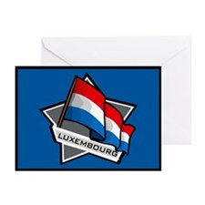 """""""Luxembourg Star Flag"""" Greeting Cards (Pk of 10)"""