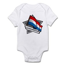 """Luxembourg Star Flag"" Infant Bodysuit"