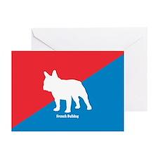 Bulldog Diagonal Greeting Cards (Pk of 10)