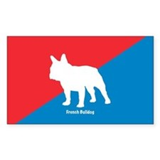 Bulldog Diagonal Rectangle Decal