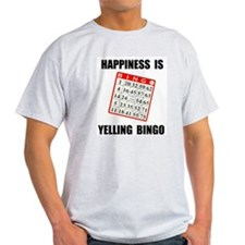 BINGO HAPPY Ash Grey T-Shirt