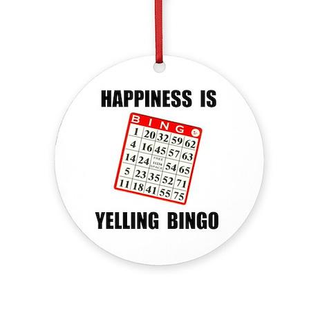 BINGO HAPPY Ornament (Round)