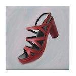 Red Sandal Tile Coaster