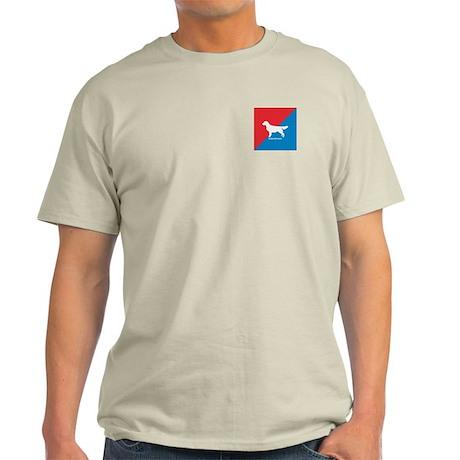 Golden Diagonal Ash Grey T-Shirt