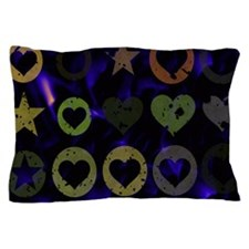 Stars and Hearts Pillow Case