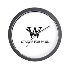 W Stands For WAR! Wall Clock