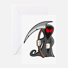 Halloween Grim Reaper Greeting Cards