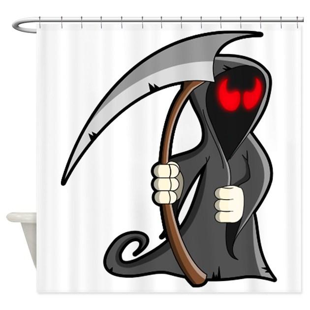 Halloween Grim Reaper Shower Curtain By Istudiographics