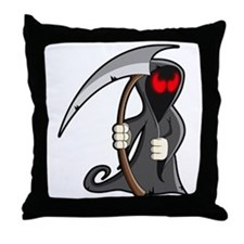 Halloween Grim Reaper Throw Pillow