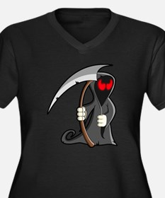 Halloween Grim Reaper Plus Size T-Shirt