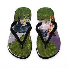 The Last Black Unicorn Flip Flops