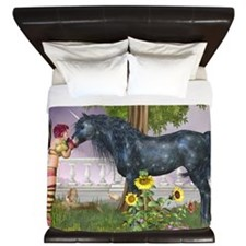 The Last Black Unicorn King Duvet