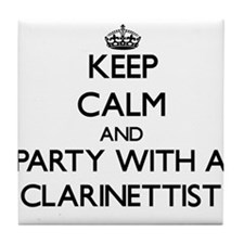 Keep Calm and Party With a Clarinettist Tile Coast
