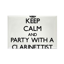 Keep Calm and Party With a Clarinettist Magnets