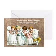 Victorian Christmas card Greeting Cards