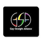 GSA Spin Black Mousepad