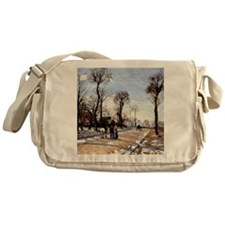 Pissarro - Street-Winter Sunlight an Messenger Bag