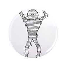 "Halloween Mummy 3.5"" Button (100 pack)"