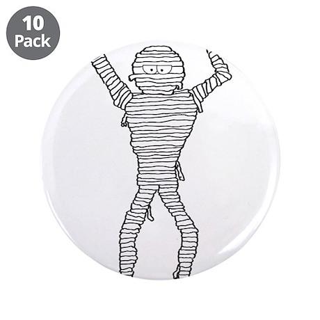 """Halloween Mummy 3.5"""" Button (10 pack)"""