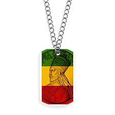 Haile Selassie I Rasta Dog Tags