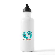 NICU nurse t-shirt blue feet Water Bottle