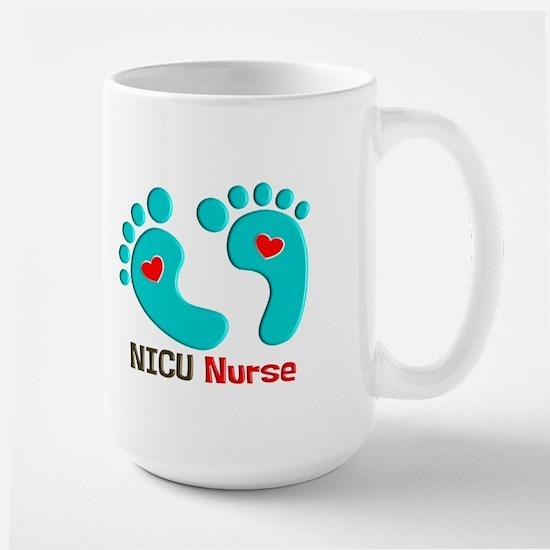 NICU nurse t-shirt blue feet Mugs