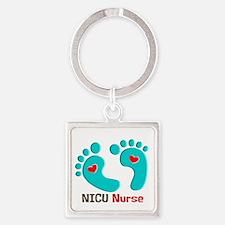 NICU nurse t-shirt blue feet Keychains