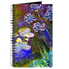 Monet - Water Lilies and Agapanthus Journal