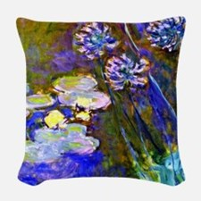Monet - Water Lilies and Agapa Woven Throw Pillow