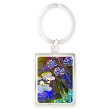 Monet - Water Lilies and Agapant Portrait Keychain