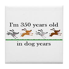50 dog years birthday 2 Tile Coaster