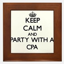 Keep Calm and Party With a Cpa Framed Tile