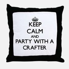 Keep Calm and Party With a Crafter Throw Pillow