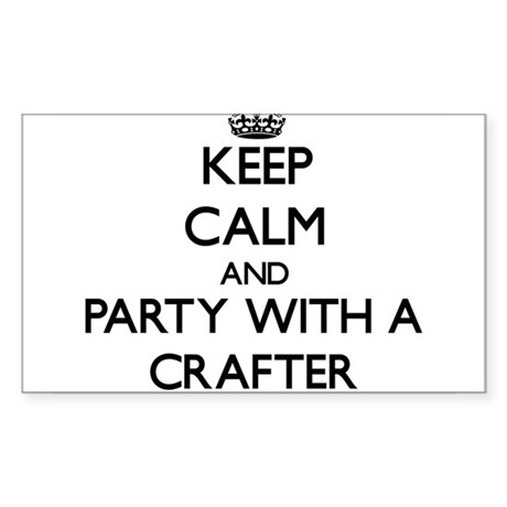 Keep Calm and Party With a Crafter Sticker