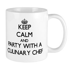 Keep Calm and Party With a Culinary Chef Mugs