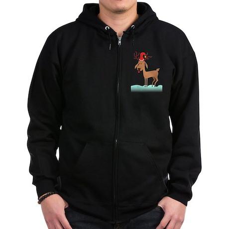 Christmas Reindeer Zip Hoodie