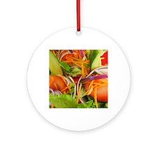 Fresh Salad Round Ornament