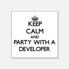 Keep Calm and Party With a Developer Sticker