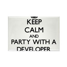 Keep Calm and Party With a Developer Magnets
