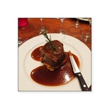"""Roast Fillet of Beef Square Sticker 3"""" x 3"""""""