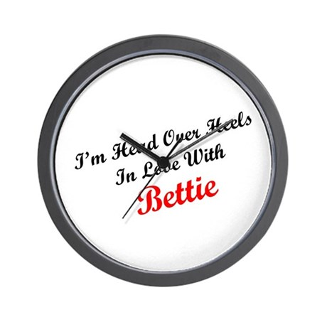 In Love with Bettie Wall Clock
