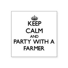 Keep Calm and Party With a Farmer Sticker