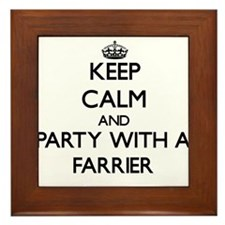 Keep Calm and Party With a Farrier Framed Tile