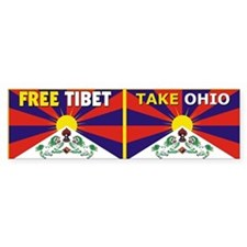 Free Tibet - Take Ohio Bumper Sticker