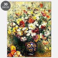 Renoir - Vase of Chrysanthemums Puzzle