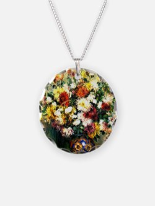 Renoir - Vase of Chrysanthem Necklace