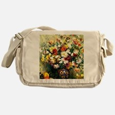 Renoir - Vase of Chrysanthemums Messenger Bag