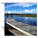 Fishing Dock Photography Shower Curtain