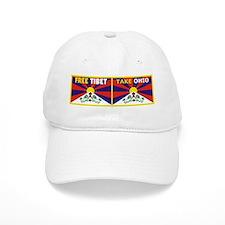 Free Tibet - Take Ohio Baseball Baseball Cap