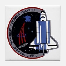 STS-80 Columbia Tile Coaster